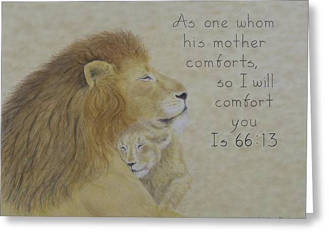 Scripture Pastels Greeting Cards - Isaiah Greeting Card by Christine Brunette