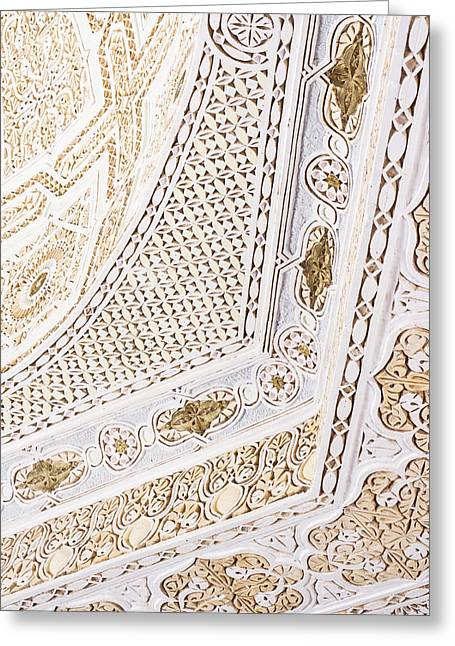 Stucco Greeting Cards - Islamic architecture Greeting Card by Tom Gowanlock