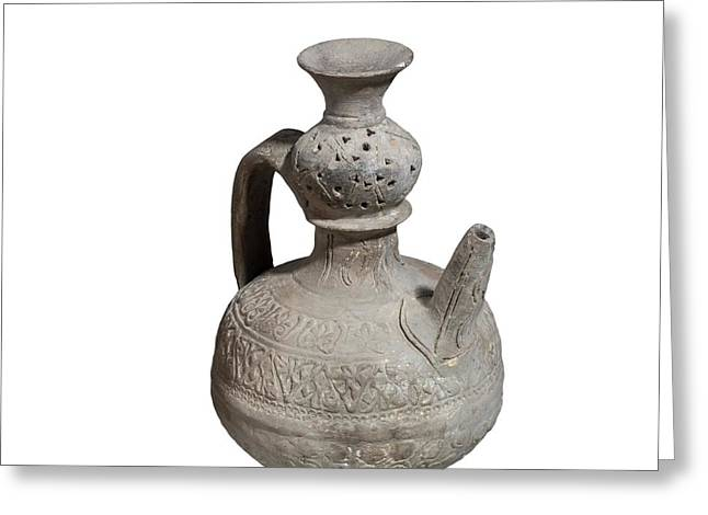 Islamic Terra-cotta Ewer Greeting Card by Photostock-israel