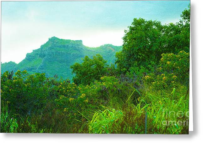 Special Occasion Greeting Cards - Island Green Greeting Card by Roselynne Broussard