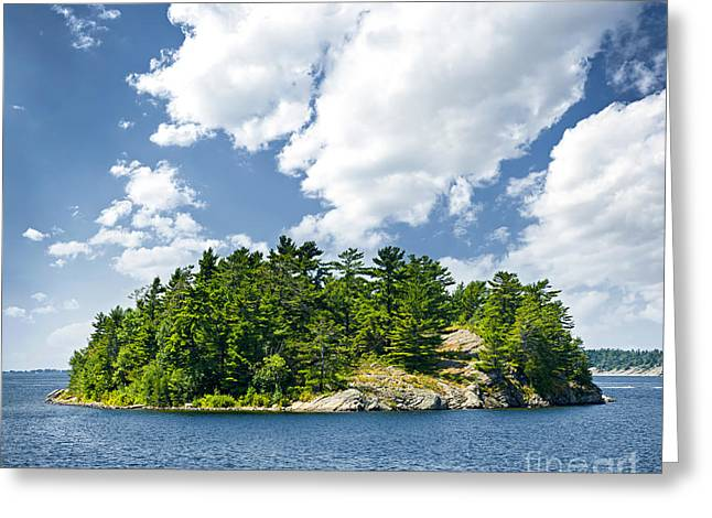 Georgian Bay Greeting Cards - Island in Georgian Bay Greeting Card by Elena Elisseeva