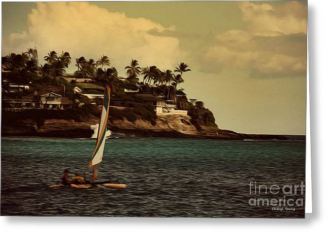 Island Life Greeting Cards - Island Life Greeting Card by Cheryl Young