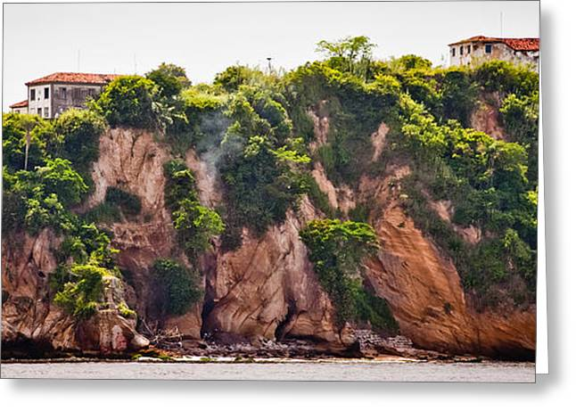 Ocean Photography Greeting Cards - Island of Boa Viagem in the city of Niteroi Greeting Card by Celso Diniz