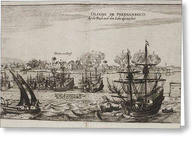Island Of Olinda Off The Coast Of Brazil Greeting Card by British Library