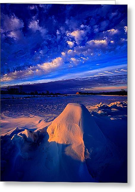 Win Greeting Cards - Isolation Greeting Card by Phil Koch