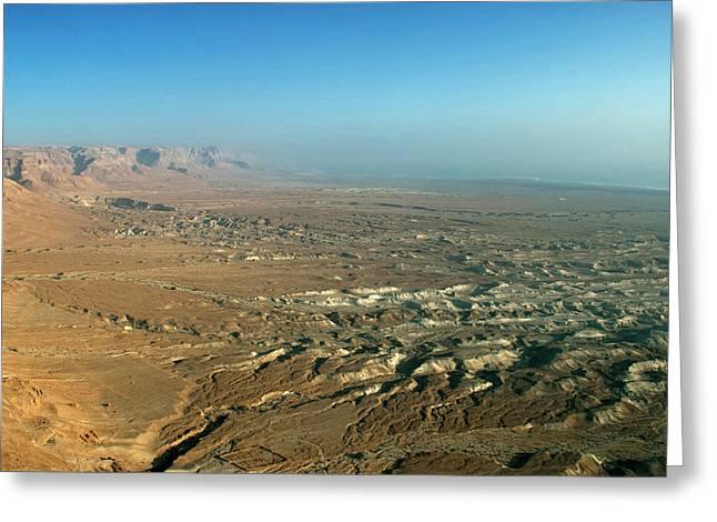 Israel, Judean Desert, Dead Sea Greeting Card by David Noyes