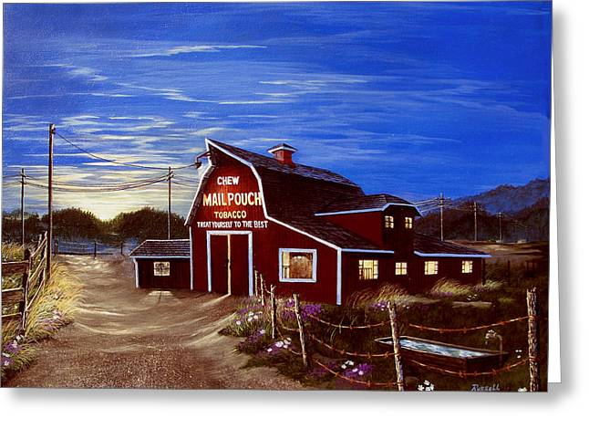 Gravel Road Paintings Greeting Cards - It Pays to Advertise Greeting Card by Russell Bentley