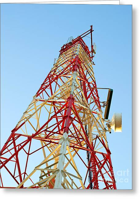 Broadcast Antenna Greeting Cards - IT tower Greeting Card by Sinisa Botas