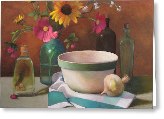 Bowl Pastels Greeting Cards - Italian Mix Greeting Card by Susan Goldstein Monahan