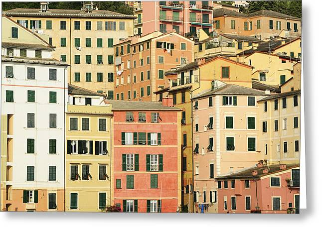 Camogli Greeting Cards - Italy, Liguria, Camogli, House. © Greeting Card by Tips Images