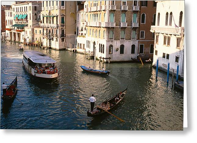 Boat House Row Greeting Cards - Italy, Venice Greeting Card by Panoramic Images