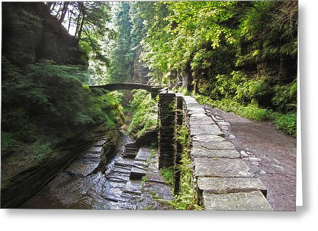 Gorge Greeting Cards - Ithaca Gorge Greeting Card by Jessica Jenney