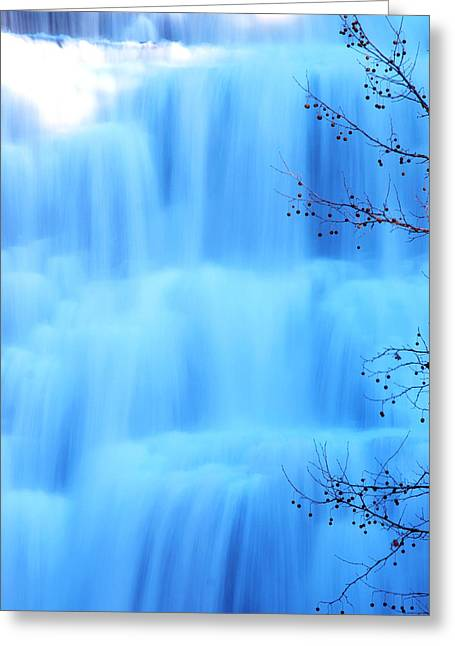 Ithaca Greeting Cards - Ithaca Water Falls New York  Greeting Card by Paul Ge