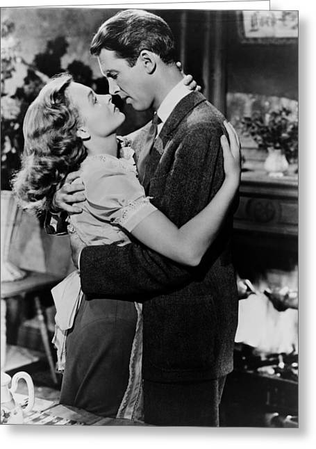 Stewart Greeting Cards - Its a Wonderful Life  Greeting Card by Silver Screen