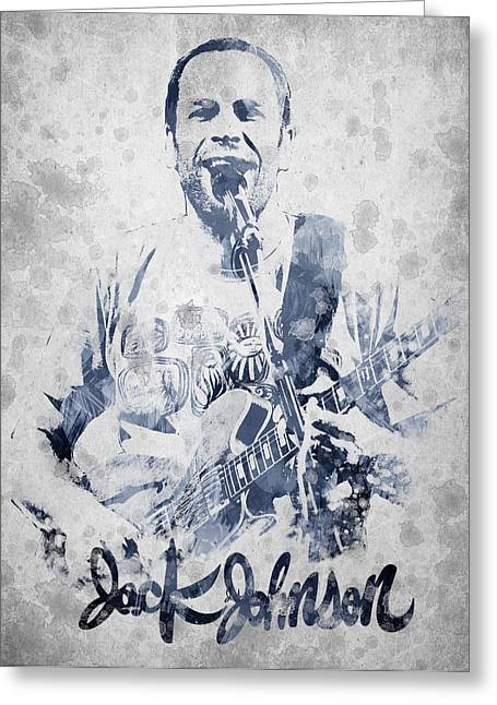 Have Greeting Cards - Jack Johnson Portrait Greeting Card by Aged Pixel