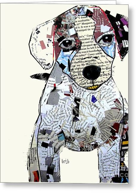 Puppies Mixed Media Greeting Cards - Jack Russell Greeting Card by Bri Buckley