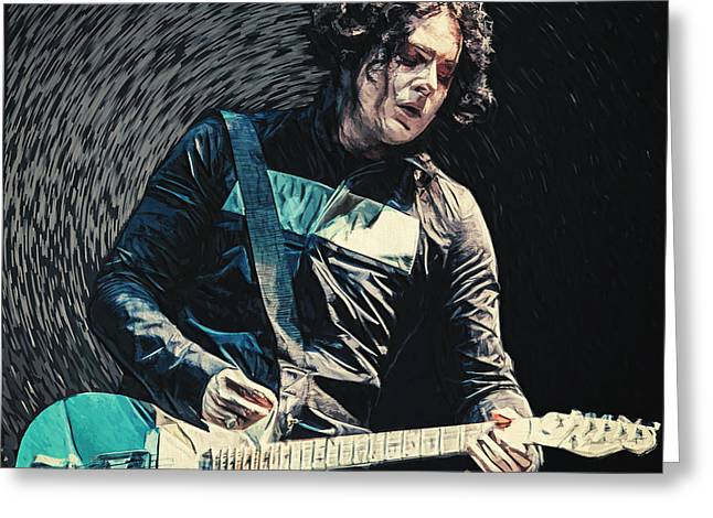 The White Stripes Greeting Cards - Jack White Greeting Card by Taylan Soyturk