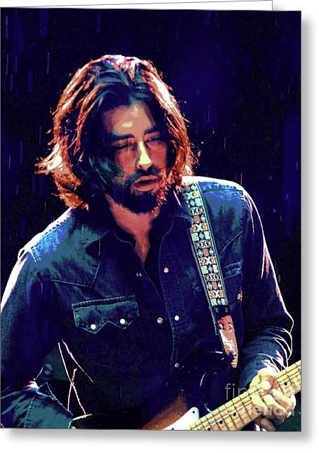Musicans Greeting Cards - Jackie Greene Greeting Card by Jesse Ciazza