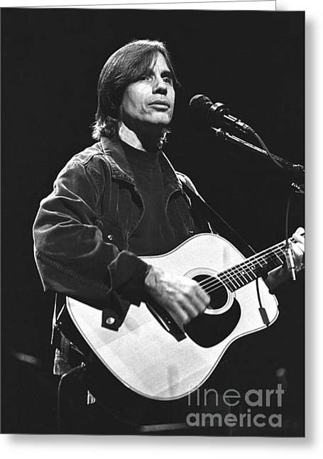 Singer Songwriter Photographs Greeting Cards - Jackson Browne Greeting Card by Front Row  Photographs