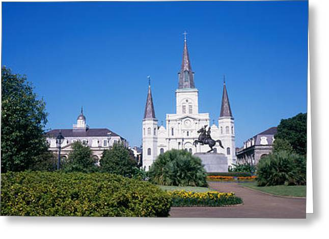 St. Louis Cathedral Greeting Cards - Jackson Square, New Orleans, Louisiana Greeting Card by Panoramic Images