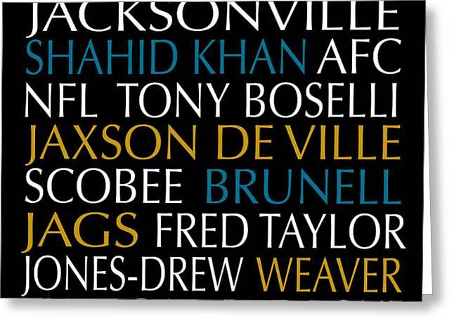 Jacksonville Jaguars Greeting Card by Jaime Friedman