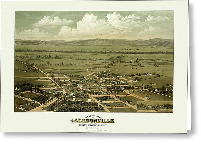 Antique City Greeting Cards - Jacksonville Oregon Greeting Card by Gary Grayson