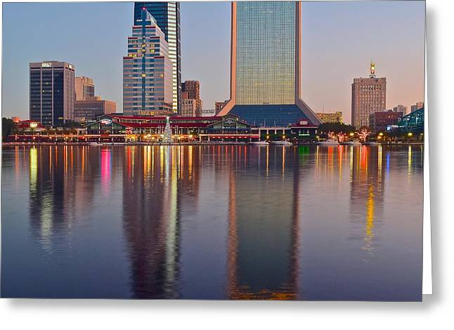 Jacksonville Greeting Cards - Jacksonville Squared Greeting Card by Frozen in Time Fine Art Photography