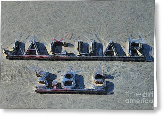 Car Mascot Paintings Greeting Cards - 1966 Jaguar 3.8 S Type Greeting Card by George Atsametakis