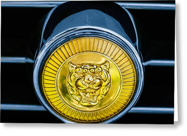 Jaguars Greeting Cards - Jaguar Grille Emblem Greeting Card by Jill Reger