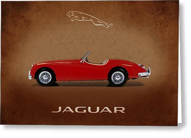 Jaguars Greeting Cards - Jaguar XK140 Greeting Card by Mark Rogan