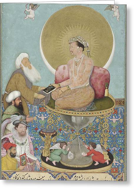 Jahangir Preferring A Sufi Sheikh To Kings Greeting Card by Celestial Images