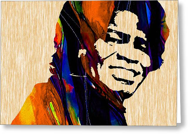 Cool Art Greeting Cards - James Brown Collection Greeting Card by Marvin Blaine