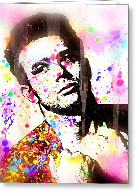 Man Without A Star Greeting Cards - James Dean Greeting Card by Daniel Janda