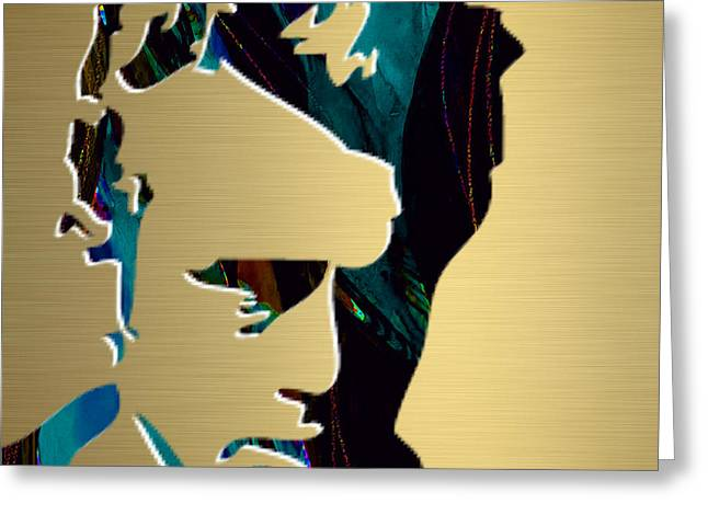 James Dean Greeting Cards - James Dean Gold Series Greeting Card by Marvin Blaine
