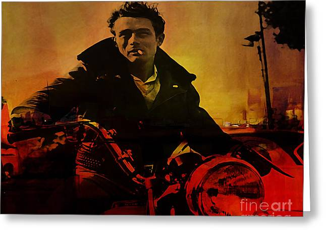 James Dean Greeting Card by Marvin Blaine