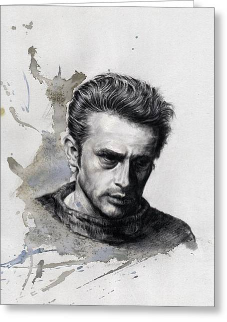 New Year Pastels Greeting Cards - James Dean Greeting Card by Ole Hedeager Mejlvang