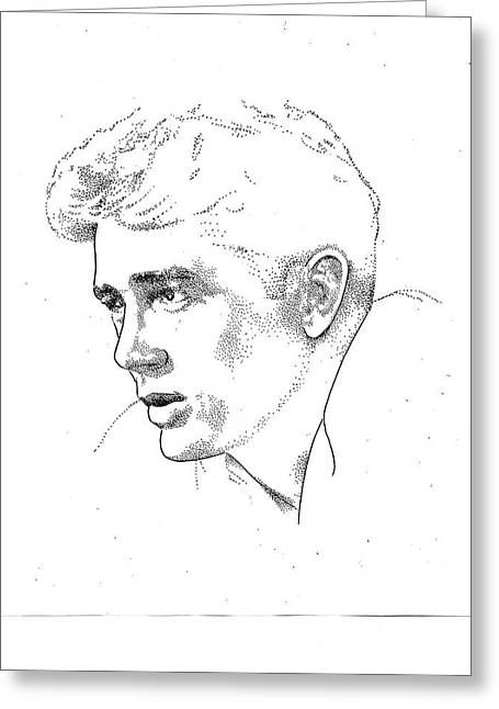 James Dean Drawings Greeting Cards - James Dean Greeting Card by Richard Johns