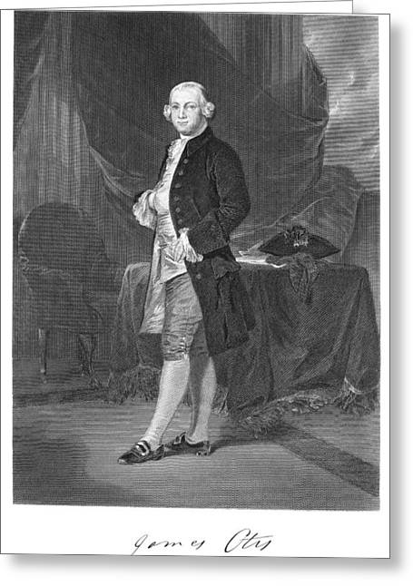 Autograph Greeting Cards - James Otis (1725-1783) Greeting Card by Granger