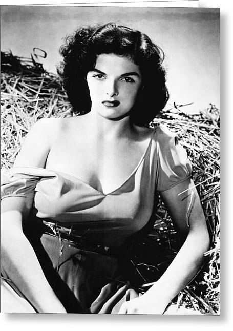 1943 Movies Greeting Cards - Jane Russell (1921-2011) Greeting Card by Granger