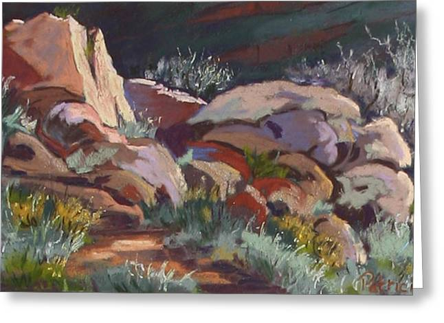 Formation Pastels Greeting Cards - January Rocks Greeting Card by Patricia Rose Ford