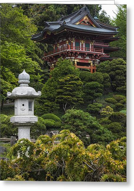 East Room Greeting Cards - Japanese Tea Garden Golden Gate Park Greeting Card by Adam Romanowicz