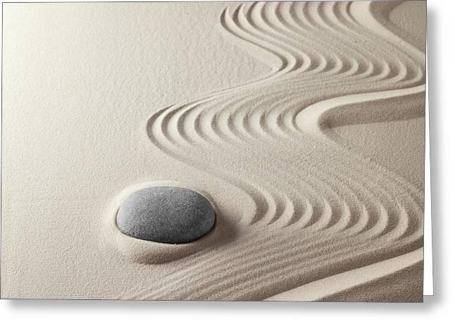 """zen Buddhism"" Greeting Cards - Japanese Zen Garden Greeting Card by Dirk Ercken"