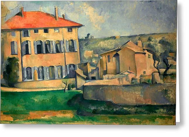 Paul Cezanne Greeting Cards - Jas de Bouffan Greeting Card by Paul Cezanne
