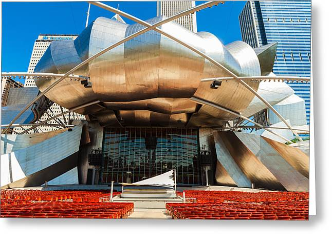 Outdoor Theater Greeting Cards - Jay Pritzker Pavilion Greeting Card by Raul Rodriguez