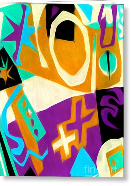Gregory Dyer Digital Greeting Cards - Jazz Art - 02 Greeting Card by Gregory Dyer