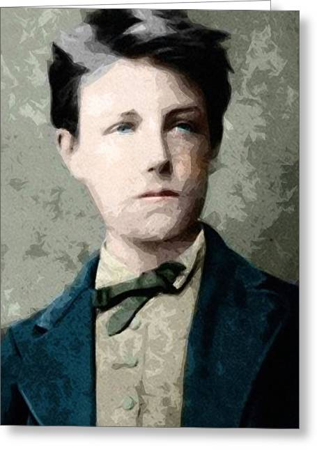 Self Portrait Jean Nicolas Arthur Rimbaud  Greeting Card by Celestial Images