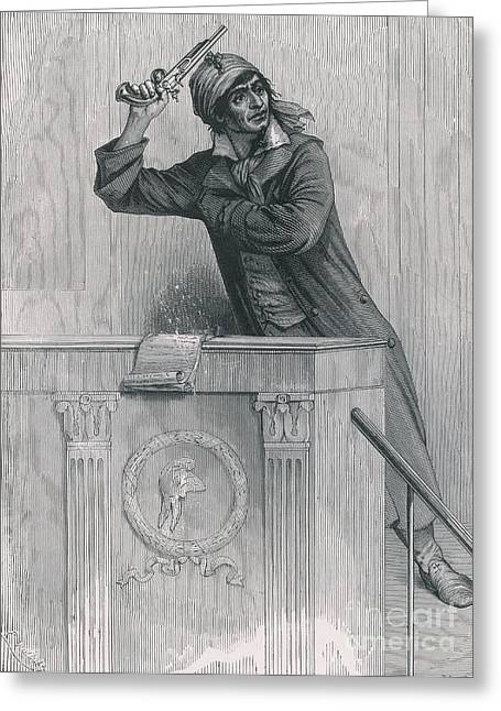 Jean Paul Marat Greeting Cards - Jean-paul Marat, French Revolutionist Greeting Card by Photo Researchers