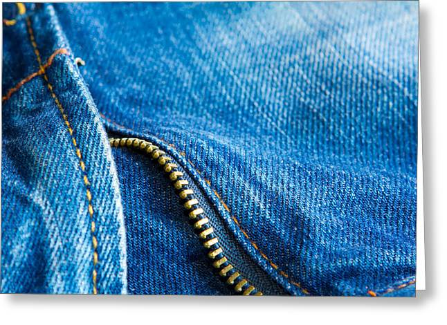 Casual Blue Jeans Greeting Cards - Jeans Greeting Card by Fizzy Image