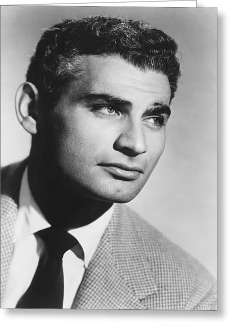Jeff Greeting Cards - Jeff Chandler Greeting Card by Silver Screen