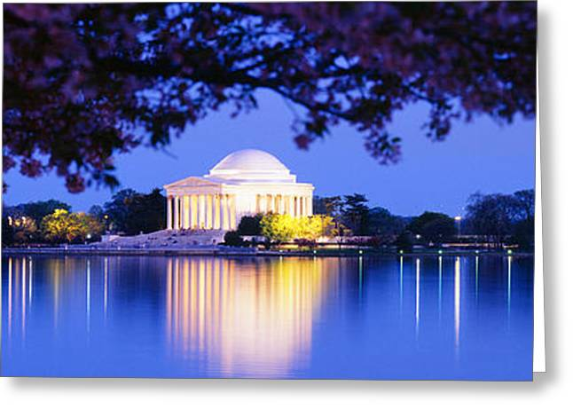 Jefferson Memorial Greeting Cards - Jefferson Memorial, Washington Dc Greeting Card by Panoramic Images